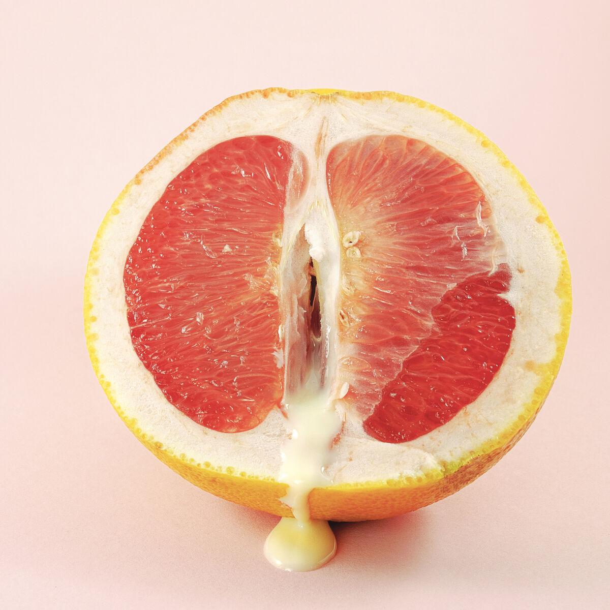 Ausfluss leicht oranger Leicht orangefarbener