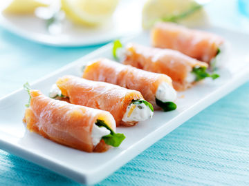 Low Carb Sushi mit Lachs